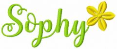 Sophy embroidery design