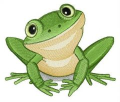 Southern laughing tree frog embroidery design
