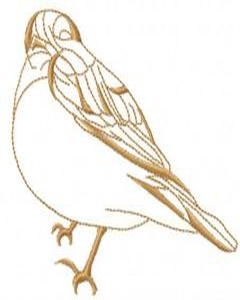 Sparrow bird 2 embroidery design