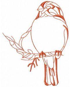 Sparrow bird 3 embroidery design