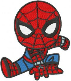 Spider boy active embroidery design