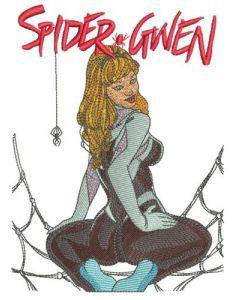 Spider-Gwen embroidery design