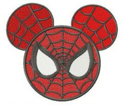 Spider Mickey embroidery design