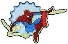 Spiderman badge embroidery design