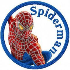 Spider-Man Badge embroidery design