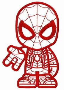 Spiderman teen embroidery design