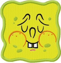 SpongeBob Smile 6 embroidery design