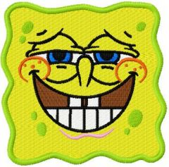 SpongeBob Smile 1 embroidery design