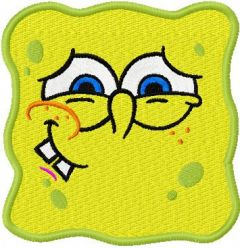 SpongeBob Smile 3 embroidery design