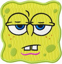 Spongebob Smile 4 embroidery design