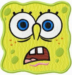 SpongeBob Smile 5 embroidery design
