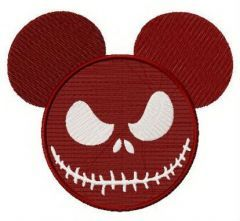 Spooky Mickey embroidery design