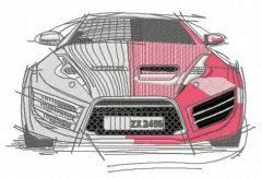 Sport car 2 embroidery design