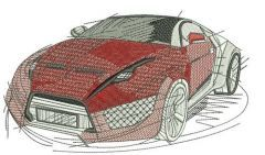 Sport car 6 embroidery design