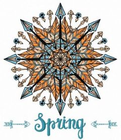 Spring amulet embroidery design