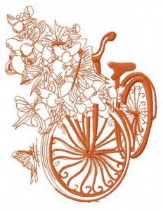 Spring bicycle 3 embroidery design