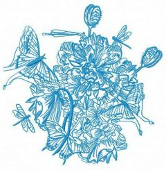 Spring bouquet 2 embroidery design