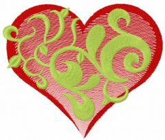 Spring in my heart embroidery design
