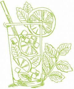 Spring margarita embroidery design
