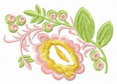 Spring motif embroidery design