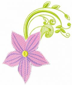 Spring pink flower embroidery design