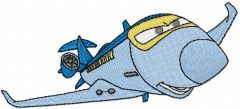 Siddeley the Plane embroidery design