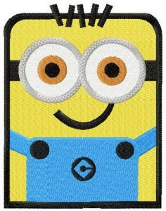Square Minion embroidery design