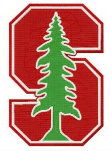 Stanford Cardinal logo embroidery design