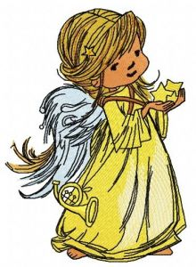 Star angel 3 embroidery design