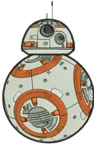 Star Wars BB 8 embroidery design