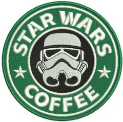 Star Wars coffee embroidery design