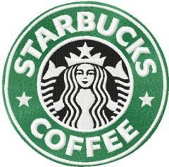Starbucks Coffee logo machine embroidery design