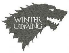 Stark Winter is Coming embroidery design