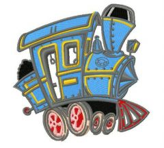 Steam locomotive 2 embroidery design