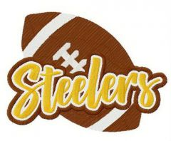 Steelers logo embroidery design
