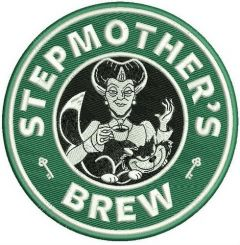 Stepmother's brew machine embroidery design
