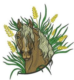 Steppe horse embroidery design
