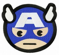 Stern Captain America embroidery design