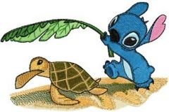Stitch and Turtle embroidery design