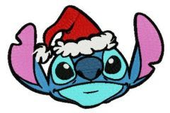 Stitch and X-mas Eve embroidery design