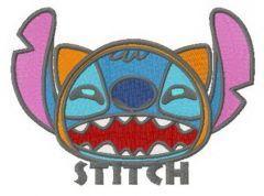 Stitch the bat embroidery design