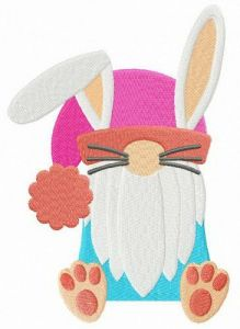 Strange Easter bunny embroidery design