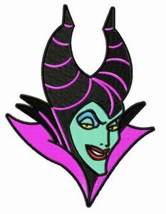 Strange Maleficent embroidery design