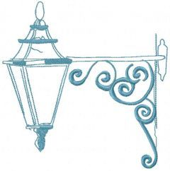 Street lantern embroidery design