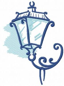 Street light embroidery design