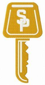Street Parking logo embroidery design