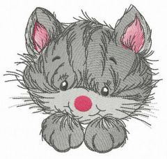 Striped pet embroidery design