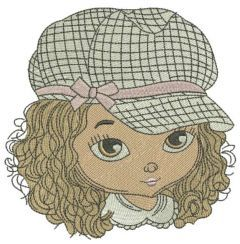 Stylish girl 3 embroidery design