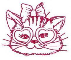 Stylish kitten 2 embroidery design