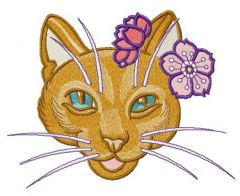 Stylish kitty embroidery design